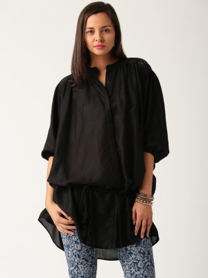 All About You Women,s Self Design Casual Shirt