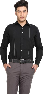 Protext Men,s Solid Casual Black Shirt