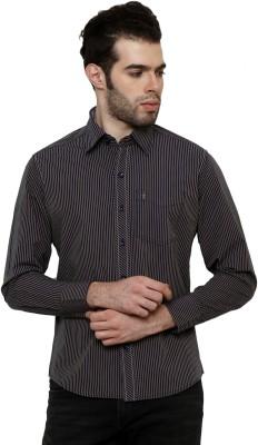True Tittos Men's Striped Casual Blue, Yellow Shirt