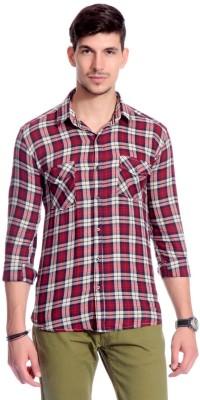 Goodkarma Men's Checkered Casual Red Shirt