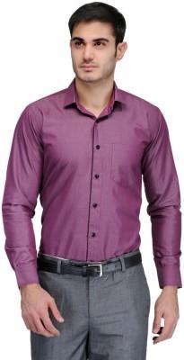 Harvest Men's Solid Formal Purple Shirt