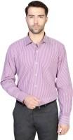 Van  Heusen Formal Shirts (Men's) - Van Heusen Men's Striped Formal Purple Shirt