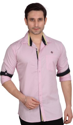 Private Image Men's Solid Casual, Party, Wedding Pink Shirt