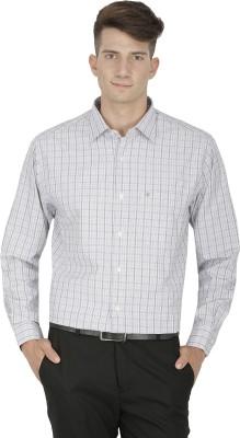 Kingswood Men's Checkered Formal Grey Shirt