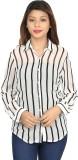 Chloe Women's Striped Casual White, Blac...