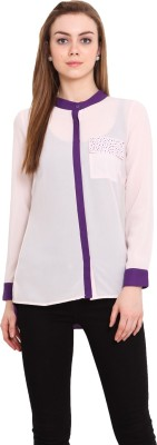 Blink Women's Solid Casual Pink Shirt