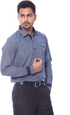 Roger Clothier Men's Checkered Formal Multicolor Shirt