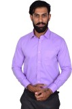 Urban Grandeur Men's Solid Formal Purple...