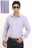 Siera Men's Striped Formal Blue, Purple,...