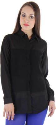 Lady Stark Women's Solid Casual Black Shirt