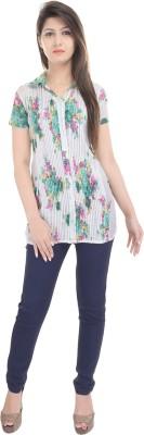 e-wa Women's Printed Casual Multicolor Shirt