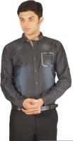 Orojns Formal Shirts (Men's) - Orojns Men's Printed Formal Blue Shirt