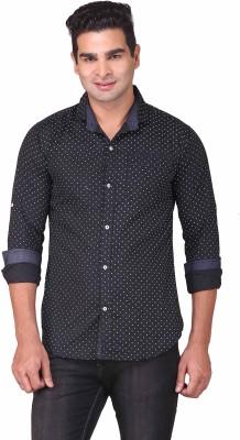 Human Steps Men's Printed Casual Black Shirt