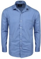 Swiss Connection Formal Shirts (Men's) - Swiss Connection Men's Solid Formal Blue Shirt