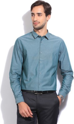 Arrow New York Men's Self Design Casual Blue Shirt
