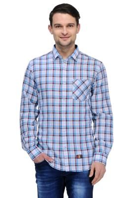 Canary London Men's Checkered Casual Light Green Shirt
