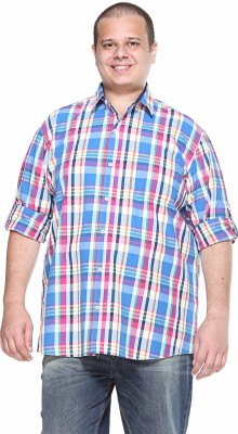 PlusS Men's Solid Casual Red Shirt