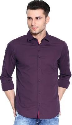 Zavlin Men,s Solid Casual Purple Shirt