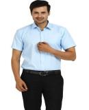 TT Men's Checkered Formal Blue Shirt