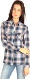 Mist Island Women's Checkered Casual Blu...