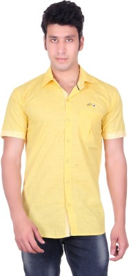PICKLE Men's Solid Formal Yellow Shirt