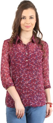 Amadeo Women's Floral Print Casual Multicolor Shirt