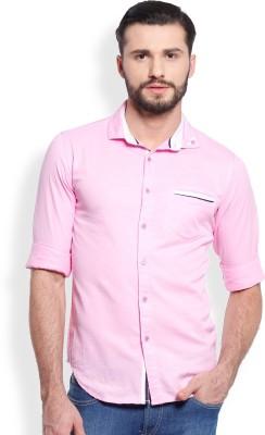 Skie Studio Men's Solid Casual Pink Shirt