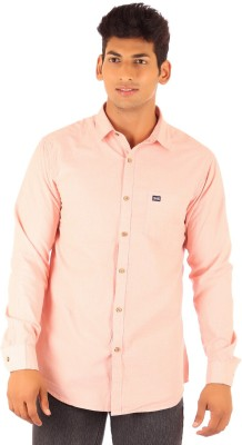 FA French America Men's Solid Casual Beige Shirt