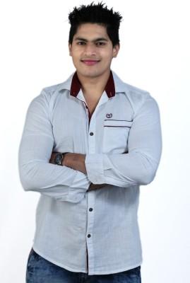 Vigroll shirts Men's Solid Casual White Shirt