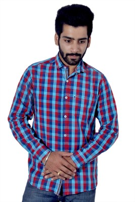 Tenor Men's Checkered Casual Red Shirt