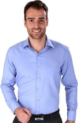 Magson Elite Men's Solid Formal Blue Shirt