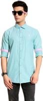 Cotton Crus Formal Shirts (Men's) - Cotton Crus Men's Solid Formal Blue Shirt