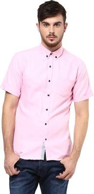 Marcello And Ferri Men's Solid Casual Pink Shirt
