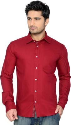 Thinc Men's Solid Casual Maroon Shirt
