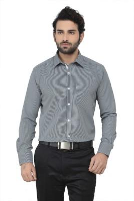 Swathe Men's Checkered Casual Black Shirt