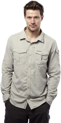 Craghoppers Men's Solid Sports White Shirt