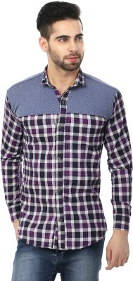 SHOPING RED Men's Checkered Casual Shirt