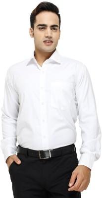 TRENDIEZ Men's Solid Casual, Formal White Shirt