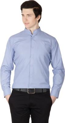 Robin Rider Men's Solid Casual Light Blue Shirt