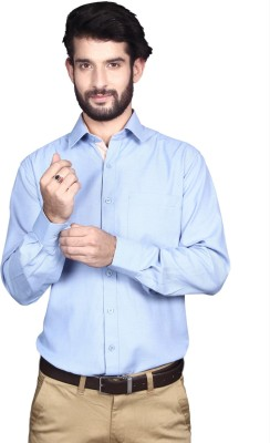 Yorkshire Men's Solid Formal Light Blue Shirt
