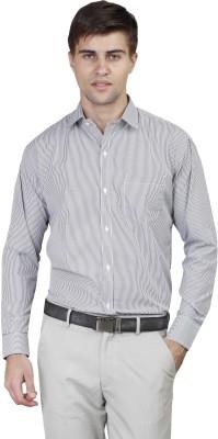 Alive Sport Men's Striped Formal Black Shirt