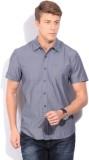 Lee Men's Self Design Casual White Shirt