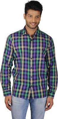 V Seven Men's Checkered Casual Multicolor Shirt
