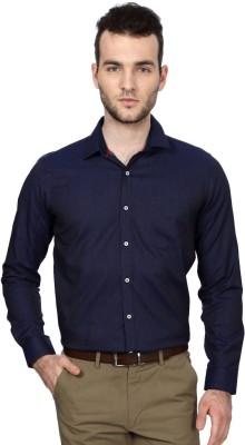 Van Heusen Men's Geometric Print Formal Dark Blue Shirt