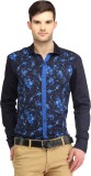 Spawn Men's Solid Casual Blue Shirt