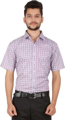Stylo Shirt Men's Checkered Casual Purple Shirt