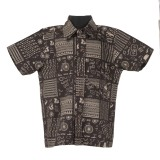 Le Luxe Boys Printed Casual Black Shirt