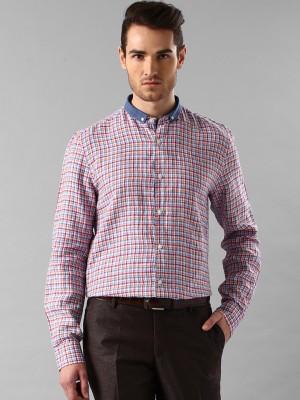 Invictus Men's Checkered Casual Blue Shirt