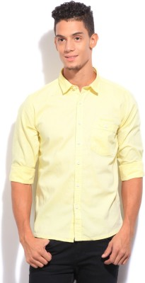 Pepe Jeans Men's Solid Casual Yellow Shirt