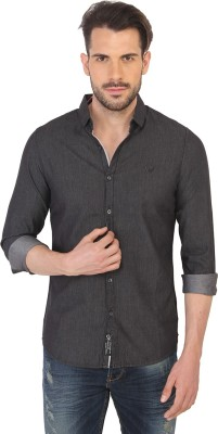 Being Human Men's Solid Casual Black Shirt